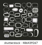set of speech bubbles.... | Shutterstock . vector #486439267