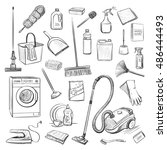vector sketches isolated on... | Shutterstock .eps vector #486444493