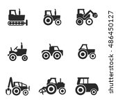 tractor vector icons. simple...