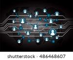 social media network concept.... | Shutterstock .eps vector #486468607
