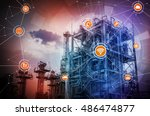 smart factory conceptual... | Shutterstock . vector #486474877