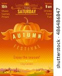 fall party invitation design.... | Shutterstock .eps vector #486486847