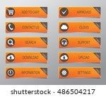 orange web buttons  high... | Shutterstock .eps vector #486504217