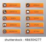 orange web buttons  high... | Shutterstock .eps vector #486504277