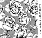 seamless pattern with image of... | Shutterstock .eps vector #486510277