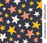 big stars   vector seamless... | Shutterstock .eps vector #486513463