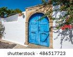 traditional front door in... | Shutterstock . vector #486517723