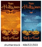 happy halloween party poster ... | Shutterstock .eps vector #486521503