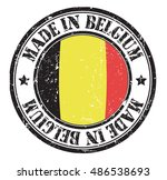 """stamp """"made in belgium"""" on the... 