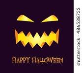 happy halloween poster. vector... | Shutterstock .eps vector #486538723