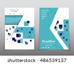 business brochure flyer banner... | Shutterstock .eps vector #486539137