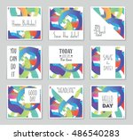 abstract vector layout... | Shutterstock .eps vector #486540283