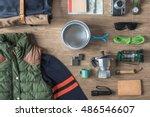 top view of autumn winter...   Shutterstock . vector #486546607