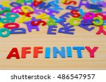 Small photo of Colorful alphabet with word affinity