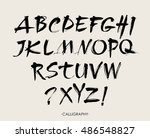 vector acrylic brush style hand ...   Shutterstock .eps vector #486548827