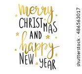 hand lettering inscription... | Shutterstock .eps vector #486563017