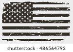 grunge usa flag.american flag... | Shutterstock .eps vector #486564793