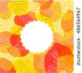 yellow leaves | Shutterstock .eps vector #486564967