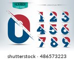 number font template  set of... | Shutterstock .eps vector #486573223