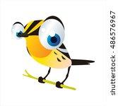 vector cartoon cute animal... | Shutterstock .eps vector #486576967