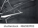 empty dark abstract concrete... | Shutterstock . vector #486583903