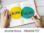 vision mission business plan... | Shutterstock . vector #486606757