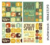 "set of ""african spirit"" banners ... | Shutterstock .eps vector #486615193"