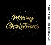 merry christmas greeting card....   Shutterstock .eps vector #486624853