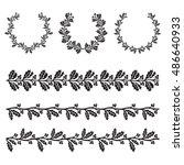 ilex aquifolium decor  also... | Shutterstock .eps vector #486640933