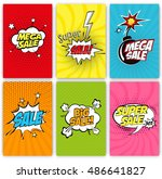 set of sale vector designs with ... | Shutterstock .eps vector #486641827