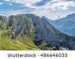 hike to zugspitze   Shutterstock . vector #486646033