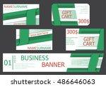 templates banner design  gift... | Shutterstock .eps vector #486646063
