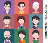 set of different male and... | Shutterstock .eps vector #486651853