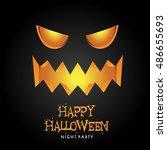 happy halloween poster. vector... | Shutterstock .eps vector #486655693