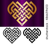 vector small celtic heart... | Shutterstock .eps vector #486659653