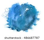 hand paint watercolor winter... | Shutterstock . vector #486687787