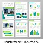 vector green template for... | Shutterstock .eps vector #486696523