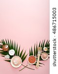 Small photo of image of homemade cosmetics ingredients. aroma theme