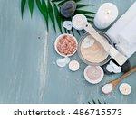 image of homemade cosmetics... | Shutterstock . vector #486715573