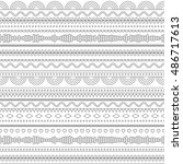 seamless pattern with linear... | Shutterstock .eps vector #486717613