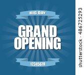 grand opening background | Shutterstock .eps vector #486725293