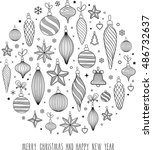 merry christmas.greetings card ....   Shutterstock .eps vector #486732637