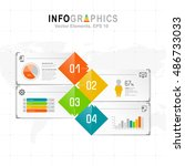 white infographics set with... | Shutterstock .eps vector #486733033