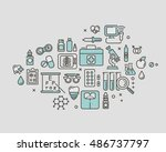 flat vector medical icon.... | Shutterstock .eps vector #486737797