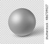 white abstract sphere  ball ...   Shutterstock .eps vector #486739027