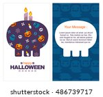 vector illustration poster or... | Shutterstock .eps vector #486739717