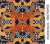 undiscovered africa. seamless...   Shutterstock .eps vector #486740953