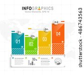 white infographics set with... | Shutterstock .eps vector #486743563
