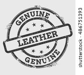 genuine leather rubber stamp... | Shutterstock .eps vector #486751393