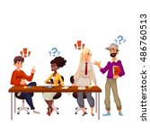 young creative business people... | Shutterstock . vector #486760513